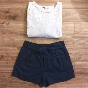 J Crew | High Waisted Shorts w/ Tie